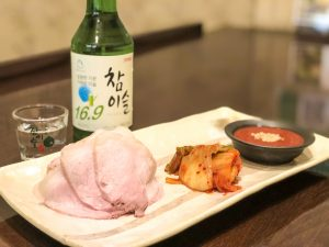京都 アジョシ 韓国料理 蒸し豚