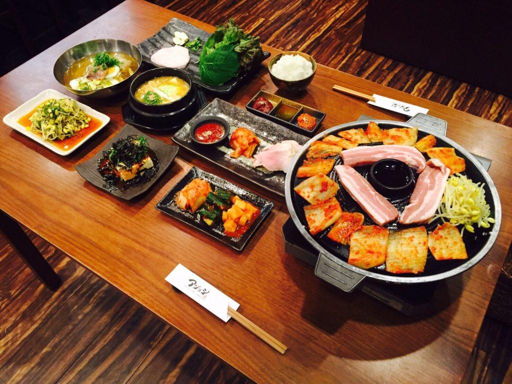 サムギョプサルコース 選べる鍋コース アジョシ 京都 韓国料理