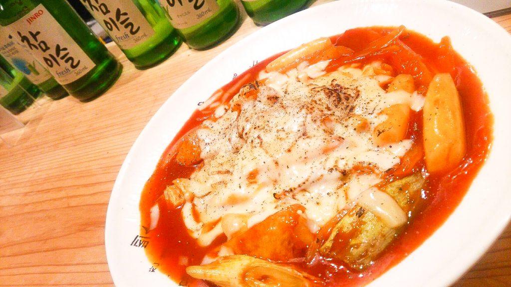 アジョシ 韓国料理 チーズトッポギ