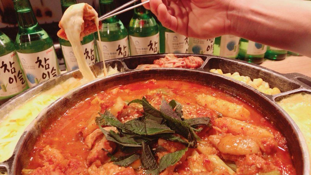 京都 韓国料理 チーズタッカルビ アジョシ