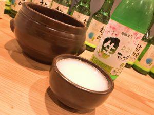 京都 アジョシ 韓国料理 マッコリ お酒