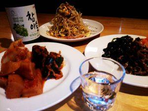 もやしナムル 新米 ご飯 秋 アジョシ 京都 韓国料理