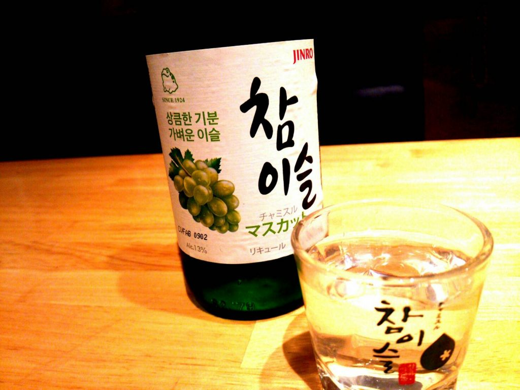 お酒 フルーツ焼酎 マスカット アジョシ 京都 韓国料理