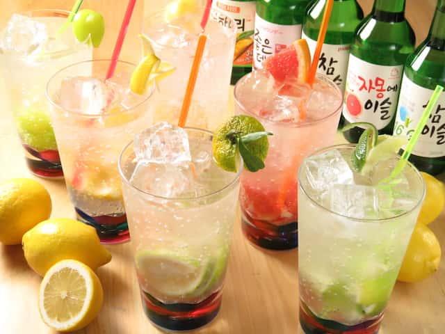 チャミスルサワー 新商品 アジョシ 京都 韓国料理