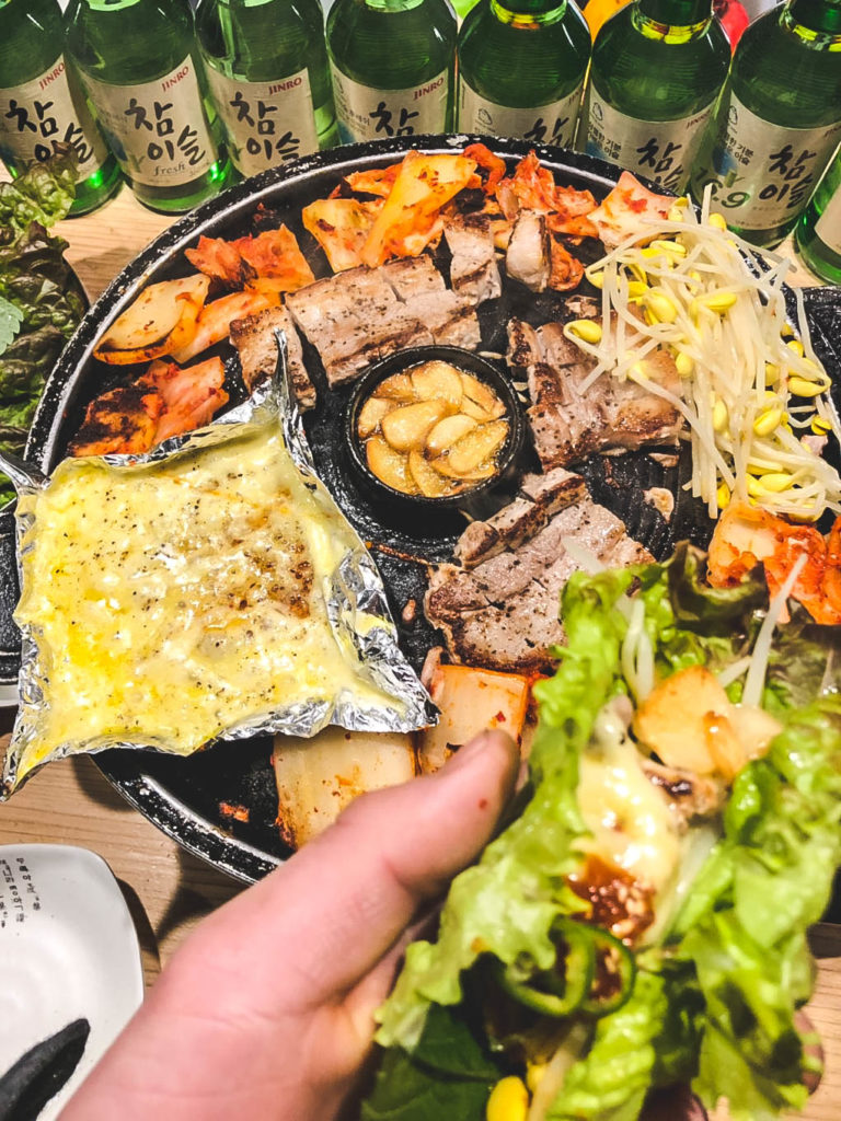 サムギョプサル + チーズトッピング